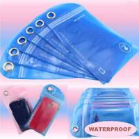 5Pcs Random Color Waterproof Bag Swimming Beach Pouch For Mobile Cell Phone