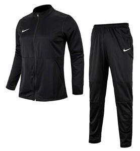 Nike Women DRY PARK 20 Track Suit Set Black Jacket Pant GYM Jersey CW3618-010