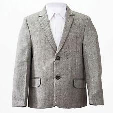 Tweed Herringbone Brown Jacket