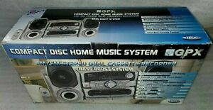 Vintage New GPX CD Home Music System AM/FM Stereo Dual Cassette Recorder RARE!!!