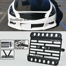 For 08-13 Infiniti G37 Coupe Front Tow Hook License Plate Relocator Bracket