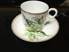 Rare Antique Royal Worcester Cup And Saucer Cup Lily Of The Valley 19th C
