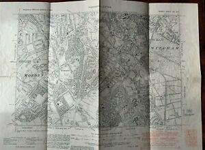 Old Map Surrey 13-NE - Mitcham, Morden, Merton (East), West Barnes in 1938