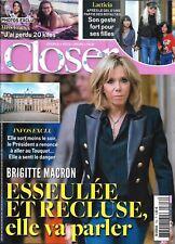 CLOSER n°706 22/12/2018  Brigitte Macron/ Miss France/ Laeticia Hallyday/ C.Goya