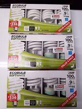 12 new Feit 100-Watt CFL Light Bulb 2700K - Soft White spiral  3 packs of 4