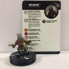 #025 Splinter  NM W/ Card TMNT Unplugged - Ninja Turtles HEROCLIX