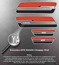 YAMAHA 1976 RD400 CHAPPY RED DECAL GRAPHIC KIT LIKE NOS