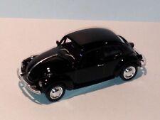 WELLY 1967 Black Volkswagen Beetle Car Hard Top DIE CAST W/ PLASTIC PARTS