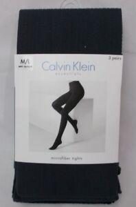 Calvin Klein Semi Opaque Mini Cable 3 Pack Microfiber Tights Size M/L