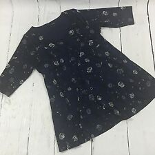 Torrid Blue Floral Dress 3/5 Sleeves Size 4 4X 26 B36