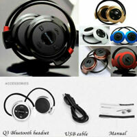 Bluetooth Headphones Over Ear Stereo Earphone Wireless Noise Cancelling Headset
