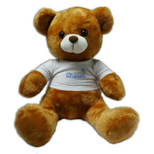 "Personalised Any Name With Stars Gift 12"" Teddy Bear - Blue"