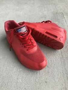 """Nike Air Max 90 Hyperfuse Independence Day Size 9.5 Men's """"Red Octobers"""""""