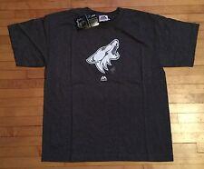 NWT Majestic Boys L NHL Arizona Coyotes SS Paddle T-Shirt Glows In Dark