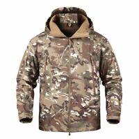 HOT Waterproof Tactical Soft Shell Jacket Coat Army Military Jacket Windbreaker
