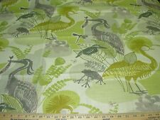 "~Bty~Richloom~""Mangrove""B irds Animals~Linen Blend Upholstery Fabric For Less~"