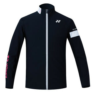 Yonex Men's Woven Jacket Badminton Apparel Racquet Racket Black NWT 211WU005M