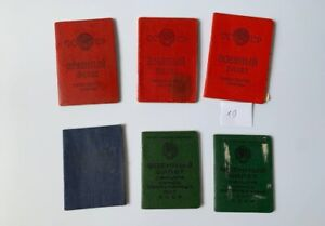 Military ID Ticket Book USSR Soviet Army document. Original 6 ps.