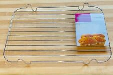 "Chrome Metal Wire Cake Biscuit Baking Cooling Stand Tray Rack 12"" x 8"""