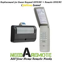 For 877LM Liftmaster Garage Door Keypad Keyless Entry Yellow Learn Visor 891LM