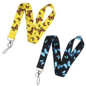 Beautiful Large Butterfly Lanyards Keychain Mobile Phone Hang Rope Phone Deco HL