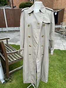 VINTAGE BURBERRY TRENCH LONG COAT SIZE 16