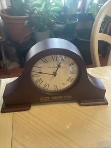 Howard Miller Humphrey Mantel Clock 635-143  8 1/2 Inches whit engraving on it.