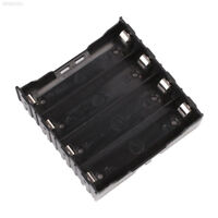 7FA7 4-Slot Box Holder Case For 4x Li-ion Lithium 18650 3.7V Battery With Pin