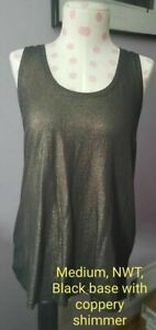 Victoria's Secret Sport Tank NWT Medium-Black with Coppery Shimmer