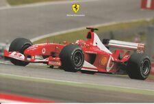 Michael Schumacher FERRARI FORMULA 1 carte promo F1 très rare.