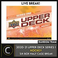 2020-21 UPPER DECK SERIES 1 HOCKEY 6 BOX HALF CASE BREAK #H953 - RANDOM TEAMS