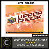 2020-21 UPPER DECK SERIES 1 HOCKEY 6 BOX HALF CASE BREAK #H994 - RANDOM TEAMS