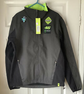 Brand New With Tags Valentino Rossi46 Monster Energy Softshell Jacket Small Grey
