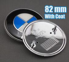 82mm Chrome Hood/Trunk 3D Emblem Badge Logo Decal for BMW M 1 3 5 6 7 X Z Series