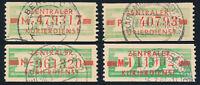 DDR-Dienst, B 30, Lot 4 Stück verschiedene Buchstaben, gestempelt, Mi. 78,-