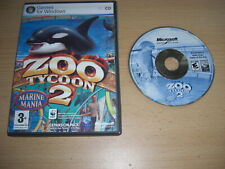 ZOO TYCOON 2 MARINE MANIA Add-On Expansion Pack Pc Cd Rom nm FAST DISPATCH