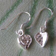 Thai Karen hilltribe Heart Earring Pure Silver