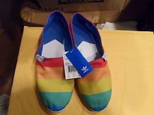 ADIDAS MULTI COLOR MEN'S CANVAS SHOES WITH RUBBER SOLE NEW SIZE 11.5 NO BOX