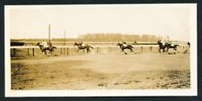 1913 BELMONT HORSE RACE FINISH Vintage PANORAMIC Photo