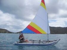 Sail kit for Sea Eagle Paddleski Kayak w/ Even Bigger 55 SF Sail  and Carry Bag