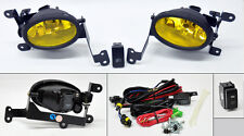 JDM Yellow Front Fog Lights Pair RH LH Wiring Switch for Honda Civic 06-08 2dr