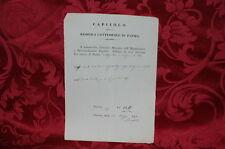 Antico Documento Capitolo della Basilica Cattedrale di Parma 1871 - Offerta