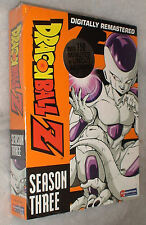 Dragon Ball Z: Temporada 3 Tres SIN CORTAR DVD Box Set - NUEVO PRECINTADO