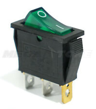 1pc Spst Onoff 3 Pin Rocker Switch With Green Neon Lamp 20a125vac Usa Seller