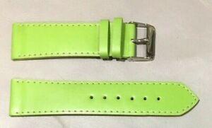 Pulsera Correa de Reloj Piel Legítima Cuero 22 mm Verde Pistacho   Watchband 215