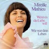 """Mireille Mathieu Wenn Es Die Liebe Will 7"""" Single Pap Vinyl Schallplatte 9198"""