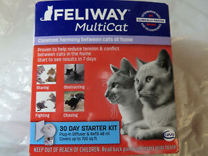 FELIWAY MULTICAT 30 DAY STARTER KIT HARMONY DIFFUSER  FOR CATS BRAND NEW