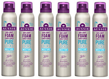 6x Aussie PURE LOCKS Air Light Foam MOISTURE Conditioner 180ml