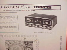 1971 REGENCY CB RADIO SERVICE SHOP MANUAL MODEL IMPERIAL II (CB-254)