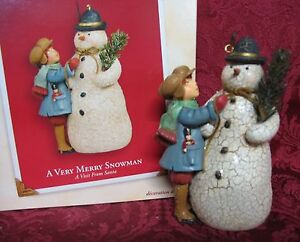 HALLMARK 2003 A VISIT FROM SANTA COLLECTION~A VERY MERRY SNOWMAN